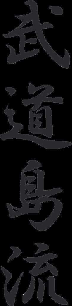 """""""Bu"""" """"Do"""" """"Shima"""" """"Ryu"""" Kanjizeichen"""